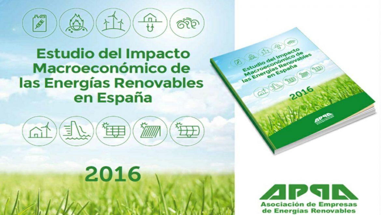 Estudio Macro: Las renovables aumentaron en 2016 su aportación al PIB y abarataron el sistema eléctrico