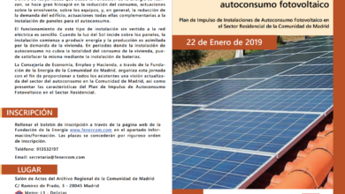 Jornada sobre Autoconsumo Fotovoltaico en la Comunidad de Madrid