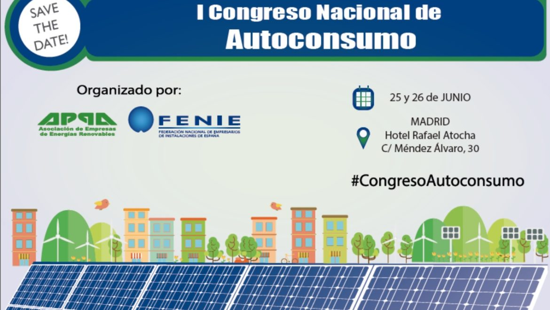 APPA Renovables y FENIE organizan el I Congreso Nacional de Autoconsumo