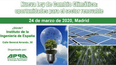 Jornada APPA – Nueva Ley de Cambio Climático: oportunidades para el sector renovable