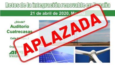 Jornada APPA – Retos de la Integración Renovable en España – APLAZADA
