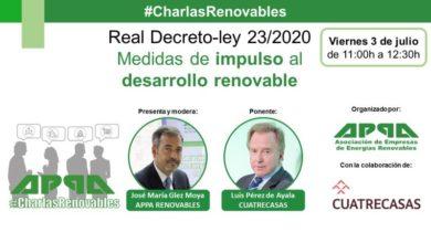 RDL 23/2020 de Medidas para Impulsar las Energías Renovables