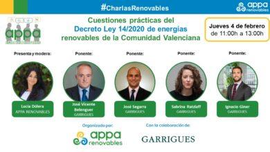 Cuestiones Prácticas del Decreto Ley 14/2020 de Energías Renovables de la Comunidad Valenciana